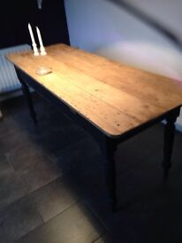 Old pitch pine table