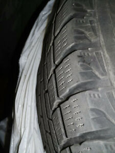 215 60 R16 winter tires with steel rims for camry