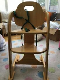 East Coast wooden grow with me high chair