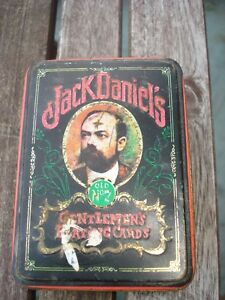 1970'S VINTAGE JACK DANIEL'S PLAYING CARDS CASE $15