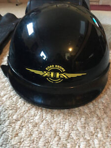 2 Motorcycle Helmets, saddle bag and chaps XL