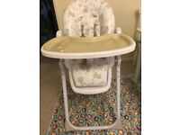 Mothercare high chair for £15
