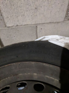 Set of four  195/65 R 15 RIMS with Used All-Season Michelin tire