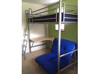 JAY-BE Studio 3 bunk bed with matress, futon & desk