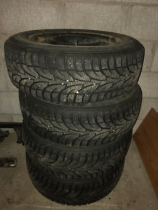 Snow Tires with rims for Mazda 3
