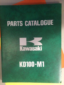 1976 1977 Kawasaki KD100-M1 KD100-M2 Parts Catalogue