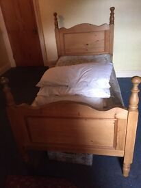 Two single pine beds for sale £70 ono (will sell separate)