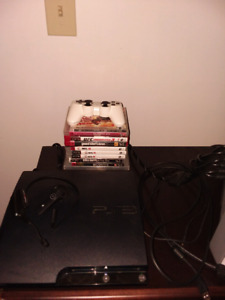 Ps3 Bundle (2 Bluetooth Headsets/ 10 Games/Controller)