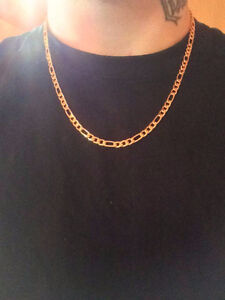 18K Gold Plated Figaro Chain 22'' (Going Cheap)