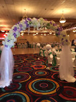 Centerpieces & Flowers, Table & Chair Covers, Backdrop