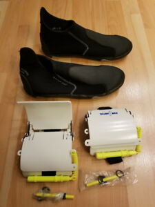 Deep See Aqua Purge Water shoes and diving wrist slates