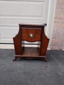 Antique magazine/newspaper table