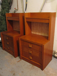 very large teak night tables / stands