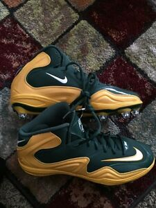 Nike Green and Yellow Football Size 11.5 Shoes