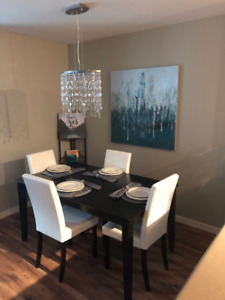 AVAILABLE OCTOBER 1st: Furnished 1 bedrm + den condo yard + pool