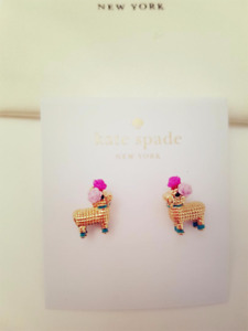 KATE SPADE 12K Gold plated Penny Piñata Stud Earrings NEW