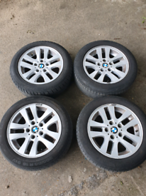 """BMW 16"""" SET OF 4 ALLOY WHEELS WITH RUN FLAT TYRES"""