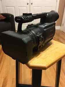 Panasonic HVX200a 1080 hd video camera with fisheye