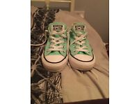 Low Cut Mint Green Converse Trainers