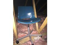 Teal swivel desk chair