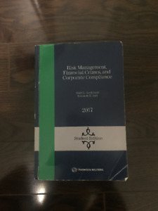 LAW534 Risk Management, Financial Crimes, and Corporate Compl.