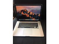 "MacBook Pro 2015 Retina 15"" 2.2GHz Core i7 16GB RAM 256GB SSD"
