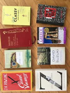 Teen and adult fiction, non-fiction, and art books