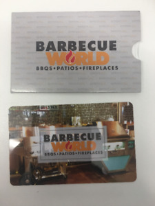 Gift Card from BARBECUE WORLD -- $2,500 value