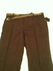 MENS DRESS PANTS WITH BELT NEW BY MADISON AVENUE