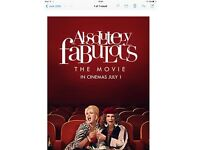 Absolutely fabulous the movie preview night tickets x2 Oxford