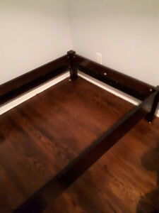 Twin bed frame.  Expresso.  Solid.  Nearly new.