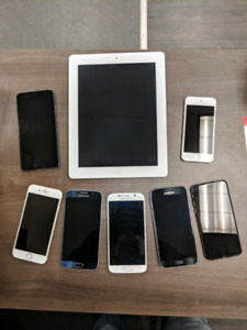 Various Cell Phones and Devices
