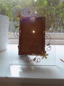 New Glass butterfly flower photo frame 6x4