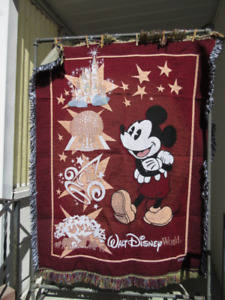 Classic Vintage Mickey Mouse throw blanket, tapestry, afghan