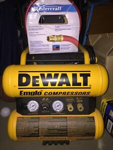 Dewalt Air Compressor & Solar Battery Charger/ Engine Starter