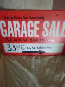 Yard Sale. 334 Grey st and Waterloo time 8am -3pm