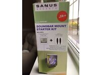 Sound bar mounting kit