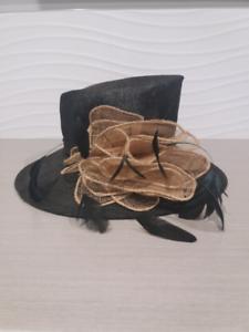 20380c685da Black and Cream race day hat