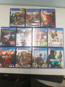 Ps4 games for sale 100 ObO