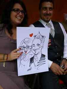the wedding caricature art  West Island Greater Montréal image 5