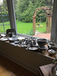 Wilton-Columbia Pewter Dish Set and accessories