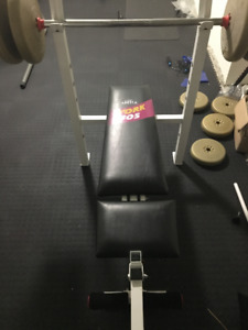 Bench Press, Complete Set with weights and leg extension