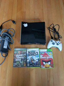 Xbox 360 Slim 1 controller 300GB upgraded Hard drive
