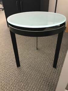 Small office side table - glass top