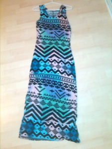 Womens tribal print maxi dress