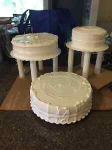 3 Tier Premade Cake Stand with gum paste Flower topper included! Strathcona County Edmonton Area image 6