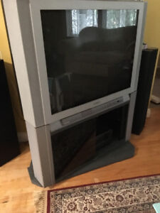 """Toshiba Television with stand/cabinet - 37"""""""