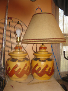 2 Mexican Table Lamps – Working / Excellent Cond -- $60/Set