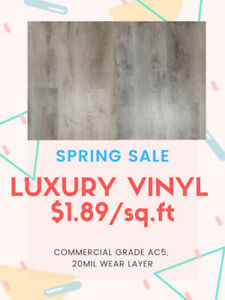 BIG SALE: LUXURY COMMERCIAL VINYL $1.89/SQFT!