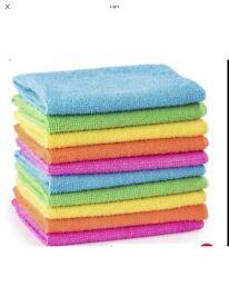 5 pcs microfiber tea Towels Assorted colour 70cm x 30cm